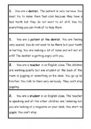 esl role play cards pdf for kids