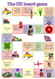 English Worksheets: The UK boardgame