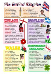 English Worksheet: An introduction to the UK