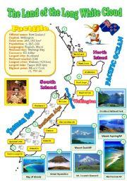 English Worksheet: New Zealand map (reuploaded)