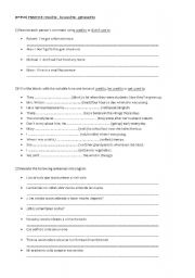 English Worksheet: used to, be used to, get used to EXERCISES