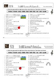 English Worksheets: U2 I still haven´t found what I´m looking for...