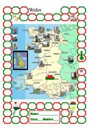 English Worksheet: Wales point card