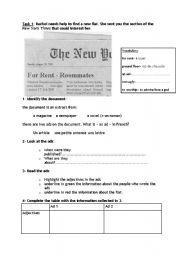 English Worksheets: Joey�s new flatmate
