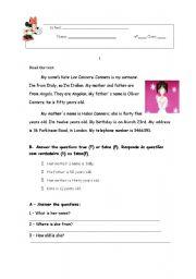 English Worksheets: Kate Lee