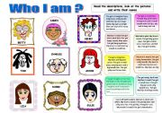 WHO I AM? PHYSICAL DESCRIPTION