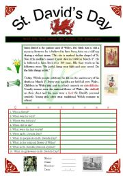 English worksheet: St David´s Day