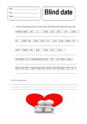 English Worksheets: blind date