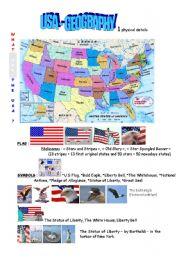 English Worksheets: USA : physical geography