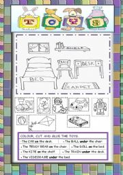 English Worksheet: Toys in the bedroom