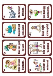 English Worksheets: Passive voice speaking cards Set 4 (modal verbs) - editable