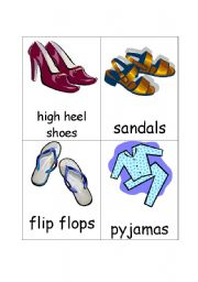 Clothes Flash Cards Set 2 (8 cards)