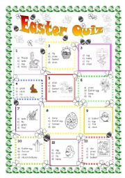 English Worksheet: Colour Easter Quiz