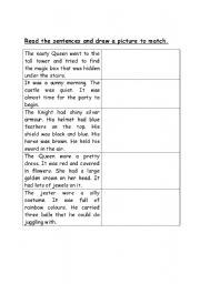 English Worksheets: castle sentences