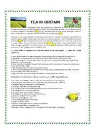 English Worksheet: Tea in Britain