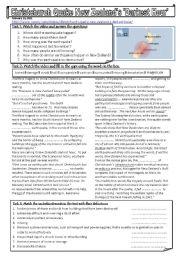 English Worksheet: New Zealand quake