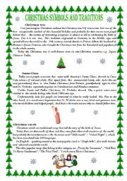 English Worksheet: Christmas Symbols and Traditions