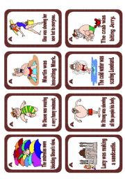 English Worksheet: Passive voice speaking cards Set 5 (Past progressive) - editable