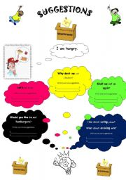 English Worksheets: suggestions(2 pages)