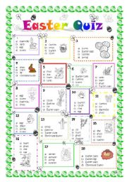 English Worksheet: Colour Easter Quiz 2