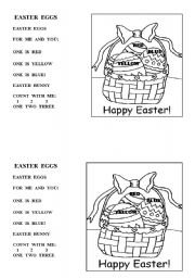 English Worksheet: Easter eggs poem
