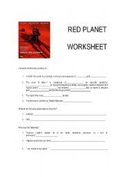English Worksheets: Red Planet (film) - Worksheet