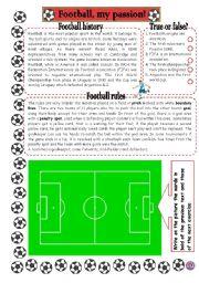 English Worksheet: FOOTBALL, MY PASSION!