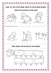 English Worksheets: Guess the action of little Bear