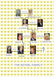 English Worksheet: a royal family tree