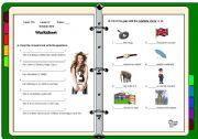 English Worksheets: Revision Work