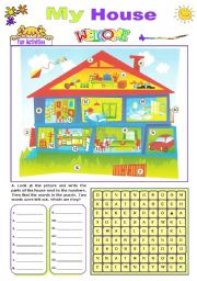 English Worksheets: My House  -  Fun activities