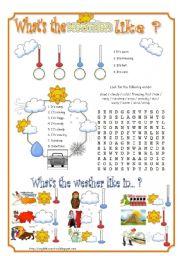 English Worksheet: Describing the weather