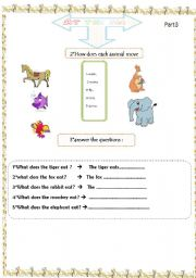 English Worksheets: animals partr3