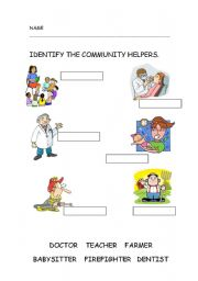 Printables Community Workers Worksheets english teaching worksheets community helpers helpers