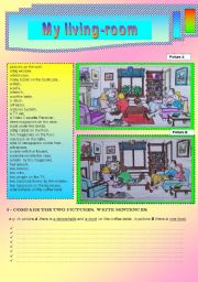 English Worksheets: COMPARING TWO PICTURES