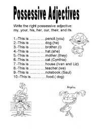possessive adjectives exercises for beginners pdf