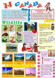 English Worksheet: Canada wall poster