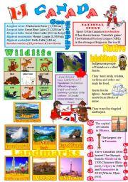 English Worksheet: Canada wall poster