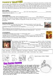 English Worksheet: Easter-WS