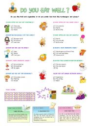 English Worksheets: DO  YOU  EAT  WELL ?