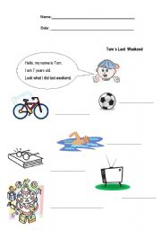 English Worksheet: weekend activities
