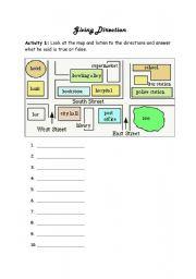 giving direction esl worksheet by sample 31. Black Bedroom Furniture Sets. Home Design Ideas