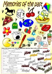 English Worksheet: PAST FORMS (regular & irregular verbs)