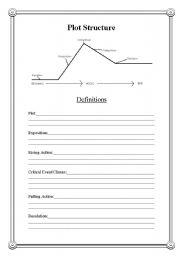 English Worksheet: Plot Structure Worksheet