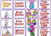 English Worksheet: Easter memory game