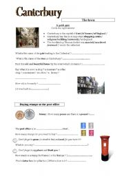 English Worksheets: short visit to Canterbury