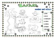 English Worksheets: Safari fun