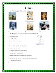 English Worksheets: Films Vocabulary