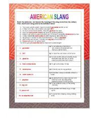 English Worksheet: American Slang