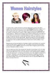 English Worksheets: Women Hairstyles